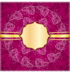 Burgundy flowers ornate background vector