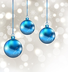 Background with snowflakes and Christmas balls vector image