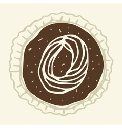Set of stylized figures of pastry cream vector