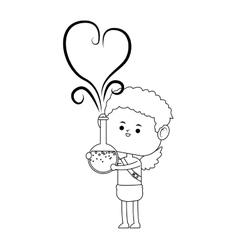 Baby cupid icon vector