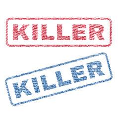 Killer textile stamps vector