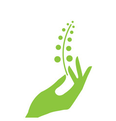 hand and plant eco vector image