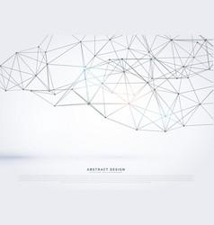 Geometric polygonal mesh background design vector
