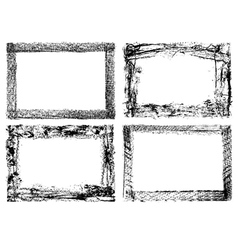 Grunge banners and scroll set vector image