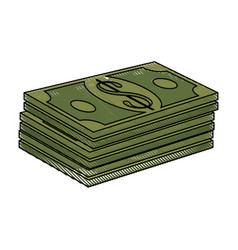 Money billets symbol vector