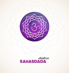 Color chakra watercolor design vector