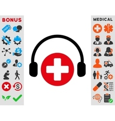 Hospital call service icon vector