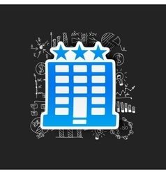 Drawing business formulas hotel vector