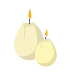 Easter candles in the shape of eggs cartoon icon vector