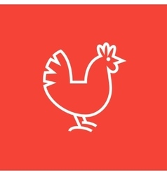 Hen line icon vector