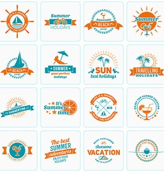 Set of Summer Holidays Design Elements Hipster vector image