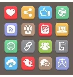 Social network icon for web mobile vector