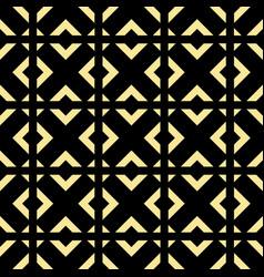 Abstract art deco golden geometric ornament vector