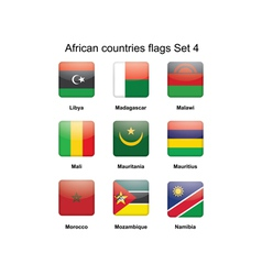 African flags set 4 vector image vector image