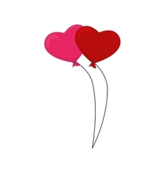 balloons heart love isolated vector image