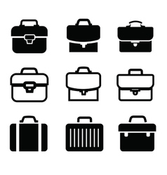briefcase icons vector image vector image