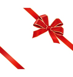 Card with red gift bow vector