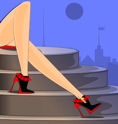 city and feet vector image vector image
