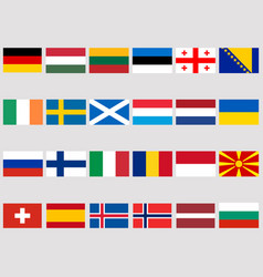 collection of flags of european countries vector image