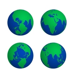colorful globe various view set vector image