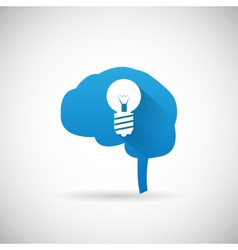 Creative idea symbol brain and lightbulb vector