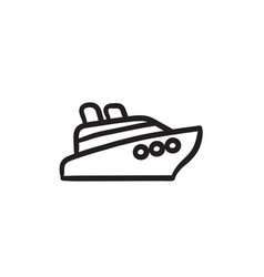 Cruise ship sketch icon vector