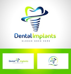 Dental implants logo vector
