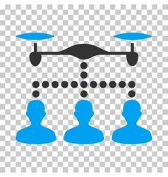 Drone clients connection eps icon vector