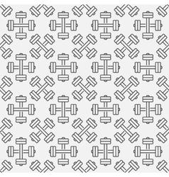Dumbbell fitness seamless pattern vector image