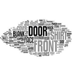 Front word cloud concept vector