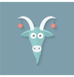 Funny Goat in Flat Style vector image