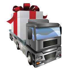 gift truck concept vector image