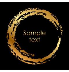 gold circle vector image vector image