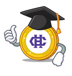 Graduation hshare coin character cartoon vector