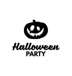 Halloween Party Silhouette Smile Pumpkin Happy vector image vector image