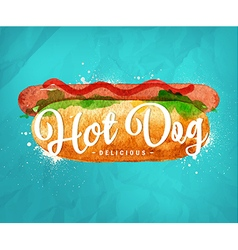Hot dog color vector image vector image