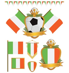 ireland flags vector image vector image