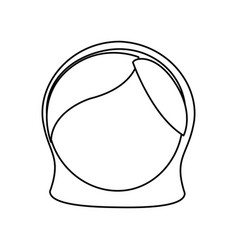 little girl draw vector image