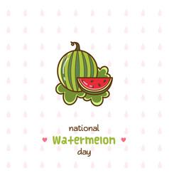 National watermelon day vector