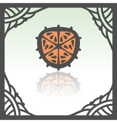 Outline orange slice icon modern infographic logo vector