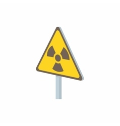 Radiation sign icon in cartoon style vector image