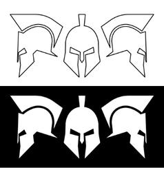Roman greek helmet vector