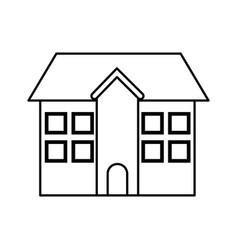 School building facade exterior education vector