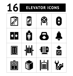 Set icons of elevator and lift vector