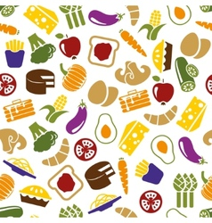 Vegetarian meals seamless pattern vector