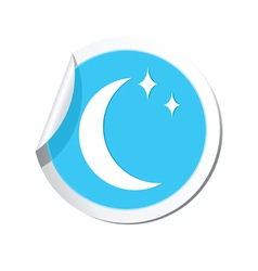 Weather forecast moon with stars icon vector