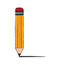 wooden pencil isolated vector image