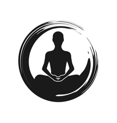 zen yoga meditation abstract symbol vector image