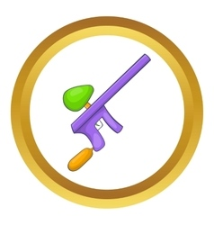 Paintball gun icon vector image