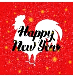 Chinese red rooster new year vector